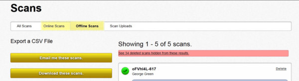 Filter Barcode Scans Online or Offline