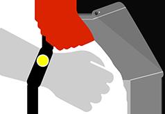 RFID/NFC wristband barcode scanning