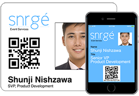 Capture leads with smartphones by scanning barcode badges..
