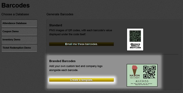 create a template for branded barcode