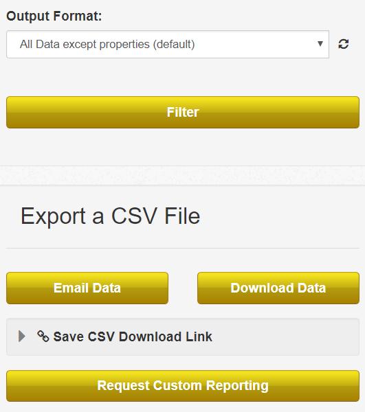 Export a CSV screenshot