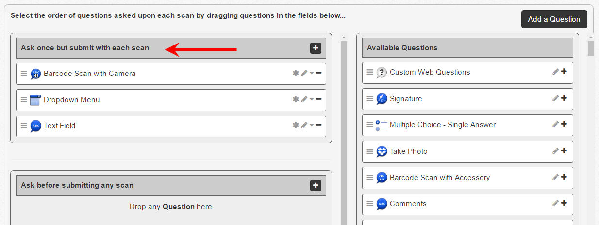 Shared Answers - web view questions page