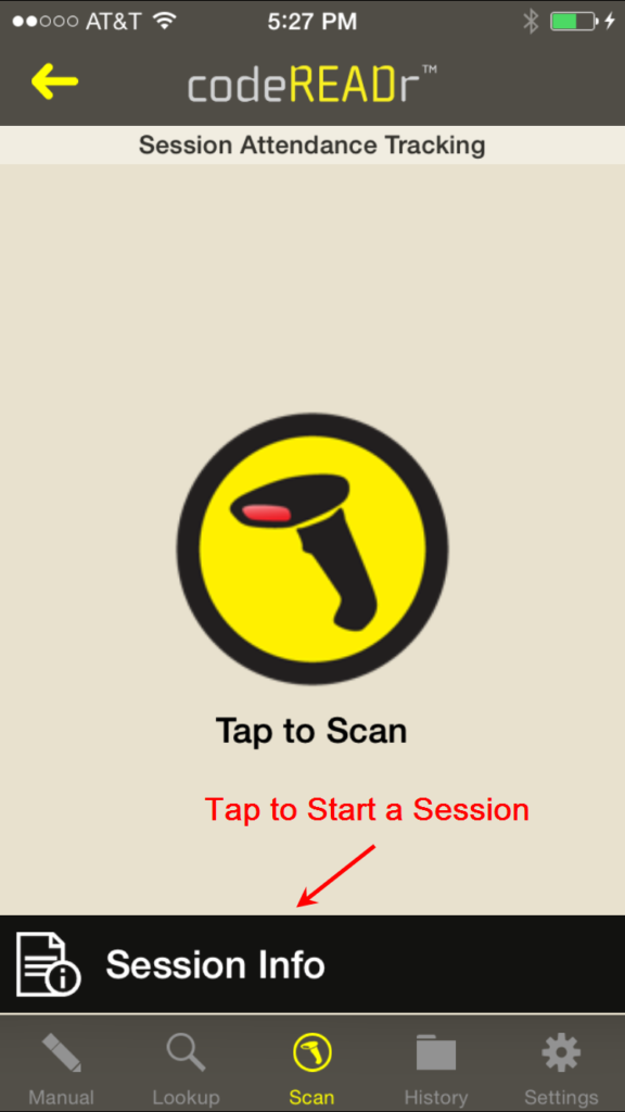 Barcode Scanning for Sessions