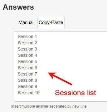 session list answers