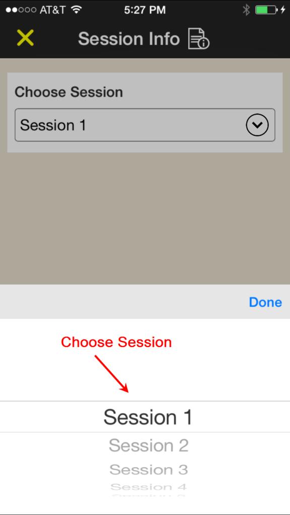 Choosing a Session