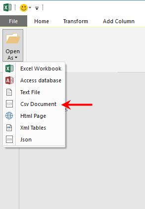 Select CSV Document