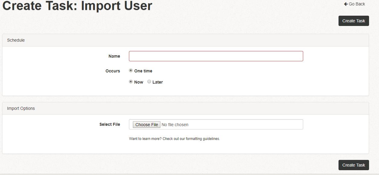 Import user