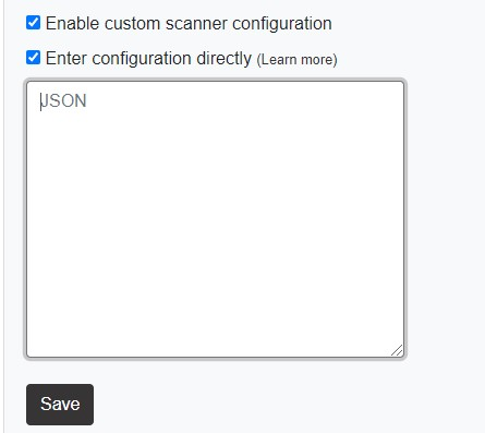 Enter configuration directly