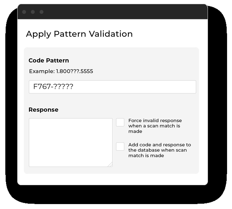 Apply pattern validation