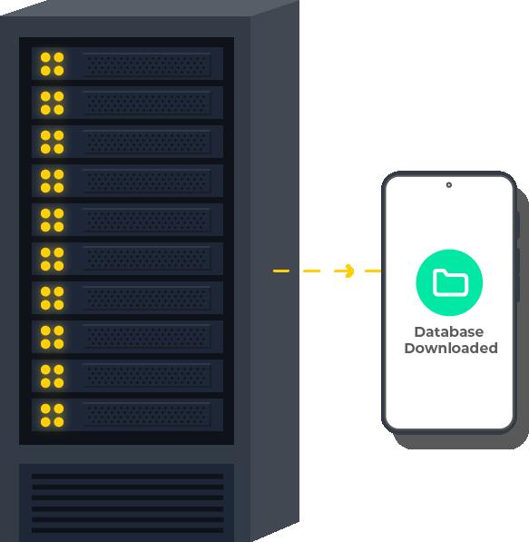 Download database for offline scanning