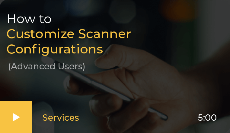 How to configure scanner