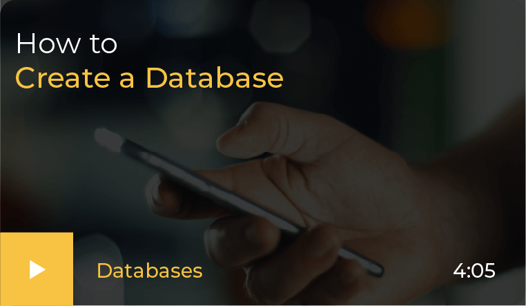 how to create a database video