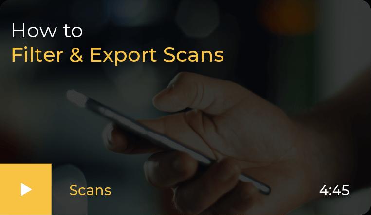 Export Scans