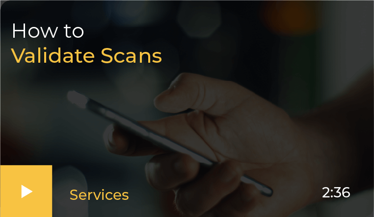 How to validate scans